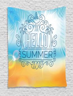 Abstract Sunny Seashore Tapestry