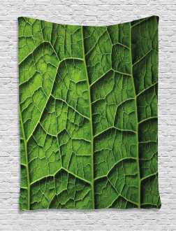 Forest Tree Leaf Texture Tapestry