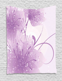 Vector Flowers Butterfly Tapestry