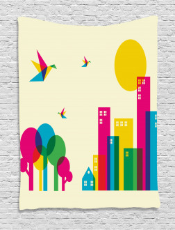 Artistic Cityscape Tapestry