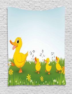 Mother Duck and Babies Tapestry