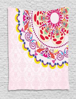 Vintage Flower Wreath Tapestry