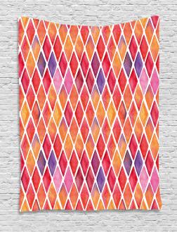 Diamond Shapes Mosaic Tapestry