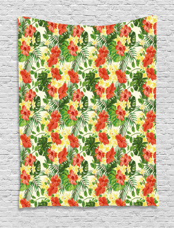 Exotic Flowers Pattern Tapestry