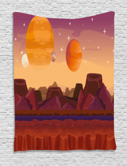 Planetary Graphic Tapestry