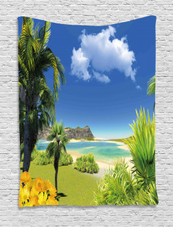 Paradise Palms Island Tapestry
