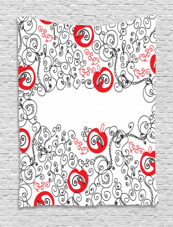 Sketchy Birds Swirls Tapestry