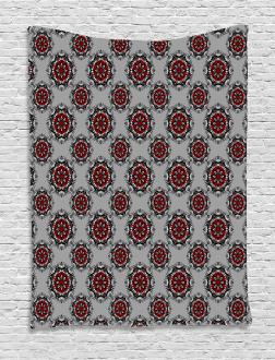 Moroccan Flower Rose Tapestry