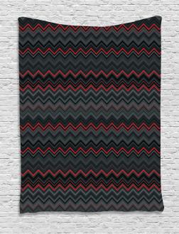 Zigzag Chevron Layers Tapestry