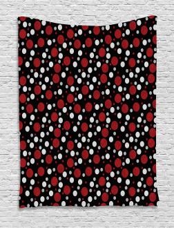 Snow Like Polka Dots Tapestry