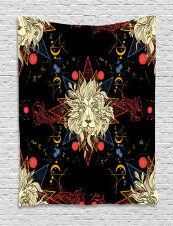 Medieval Mystic Lion Tapestry