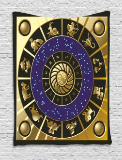 Zodiac Horoscope Art Tapestry