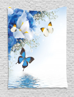 Exotic Flowers Pond Tapestry