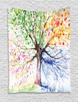 Four Seasons Colorful Tapestry