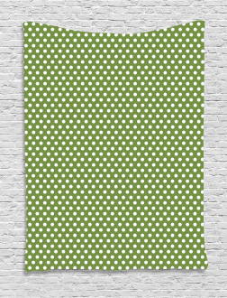 White Simple Polka Dots Tapestry