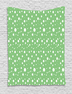 Big Dots Green Backdrop Tapestry