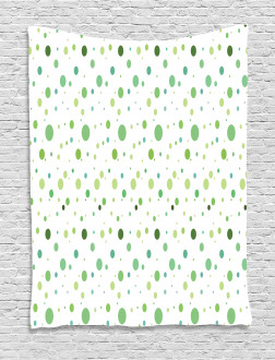Green Toned Polka Dots Tapestry