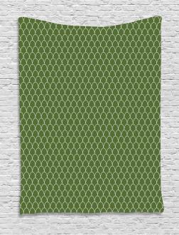Geometric Wave Like Shape Tapestry