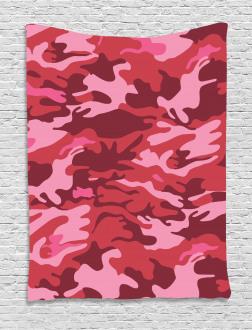 Camo Texture Autumn Theme Tapestry