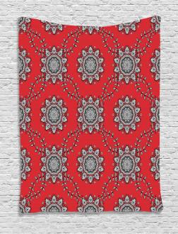 Swirls Floral Mesh Tapestry