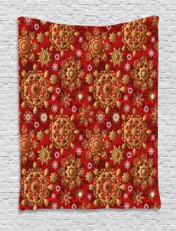 Xmas Flora Ornament Tapestry