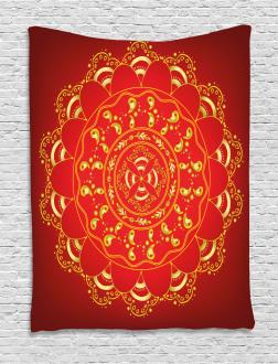 Arabic Ornate Art Tapestry