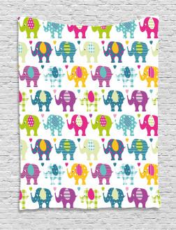 Plaid Tartan Polka Tapestry