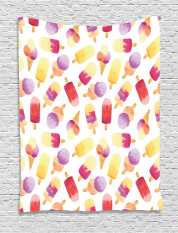 Watercolor Cone Tapestry