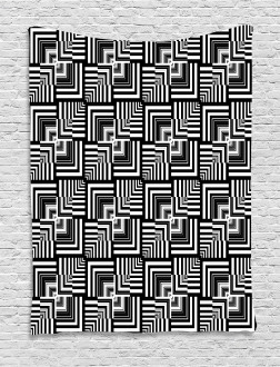 Geometric Art Tapestry