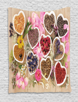 Healing Herbs Cute Bowls Tapestry