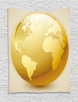 Vivid Earth Icon Sphere Tapestry