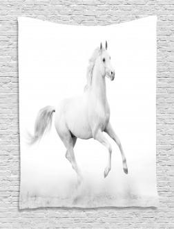 White Stallion Tapestry