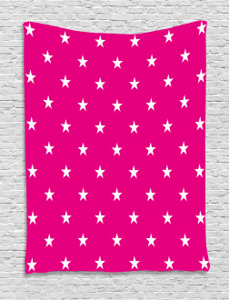 White Stars Girlish Tapestry