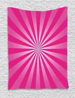 Retro Fractal Stripes Tapestry