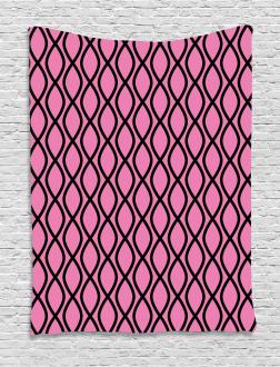 Wavy Lines Feminine Tapestry
