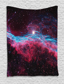 Outer Space Stars Galaxy Tapestry
