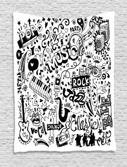 Rock Jazz Blues Dancing Tapestry