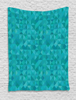 Triangles Squares Modern Tapestry