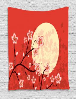 Asia Culture Sakura Branch Tapestry