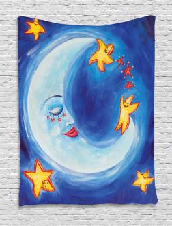 Cartoon Vibrant Star Dance Tapestry