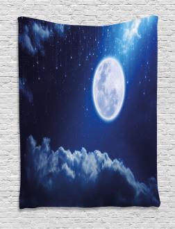 Full Moon Falling Stars Tapestry