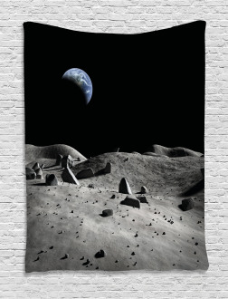 Earth Seen from the Moon Tapestry