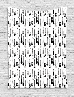 Monochrome Strings Design Tapestry