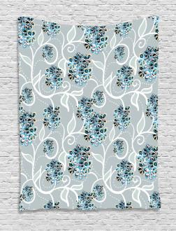 Swirls Daisy Bouquet Tapestry