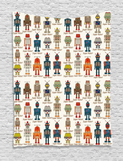 Super Robot Figures Tapestry