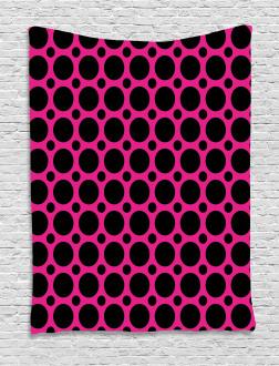 Symmetric Spots Retro Tapestry
