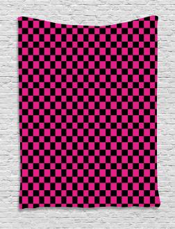 Gingham Checks Vibrant Tapestry