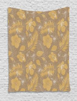 Exotic Floral Design Tapestry