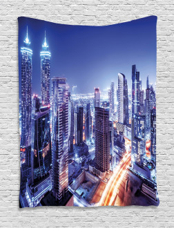 Dubai Downtown Modern UAE Tapestry