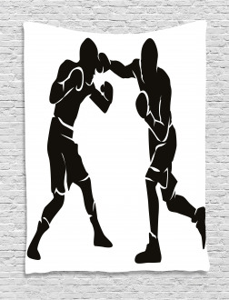Professional Boxer Punch Tapestry